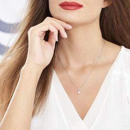 Collier Marie-helena Argent Blanc Oxyde De Zirconium - Colliers fantaisie Femme | Histoire d'Or