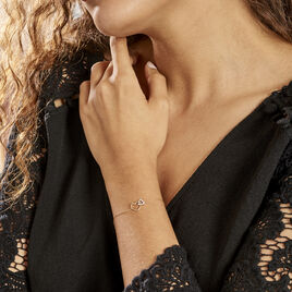 Bracelet Humberta Or Jaune Diamant - Bracelets Coeur Femme   Histoire d'Or
