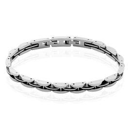 Bracelet Tom Acier Blanc - Bracelets fantaisie Homme | Histoire d'Or