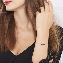 Bracelet Savahna Argent Blanc Pierre De Synthese - Bracelets fantaisie Femme   Histoire d'Or