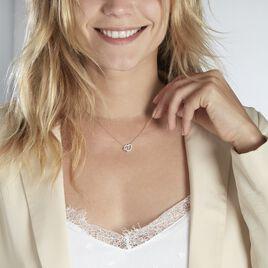 Collier Donatiane Argent Blanc Oxyde De Zirconium - Colliers Coeur Femme   Histoire d'Or