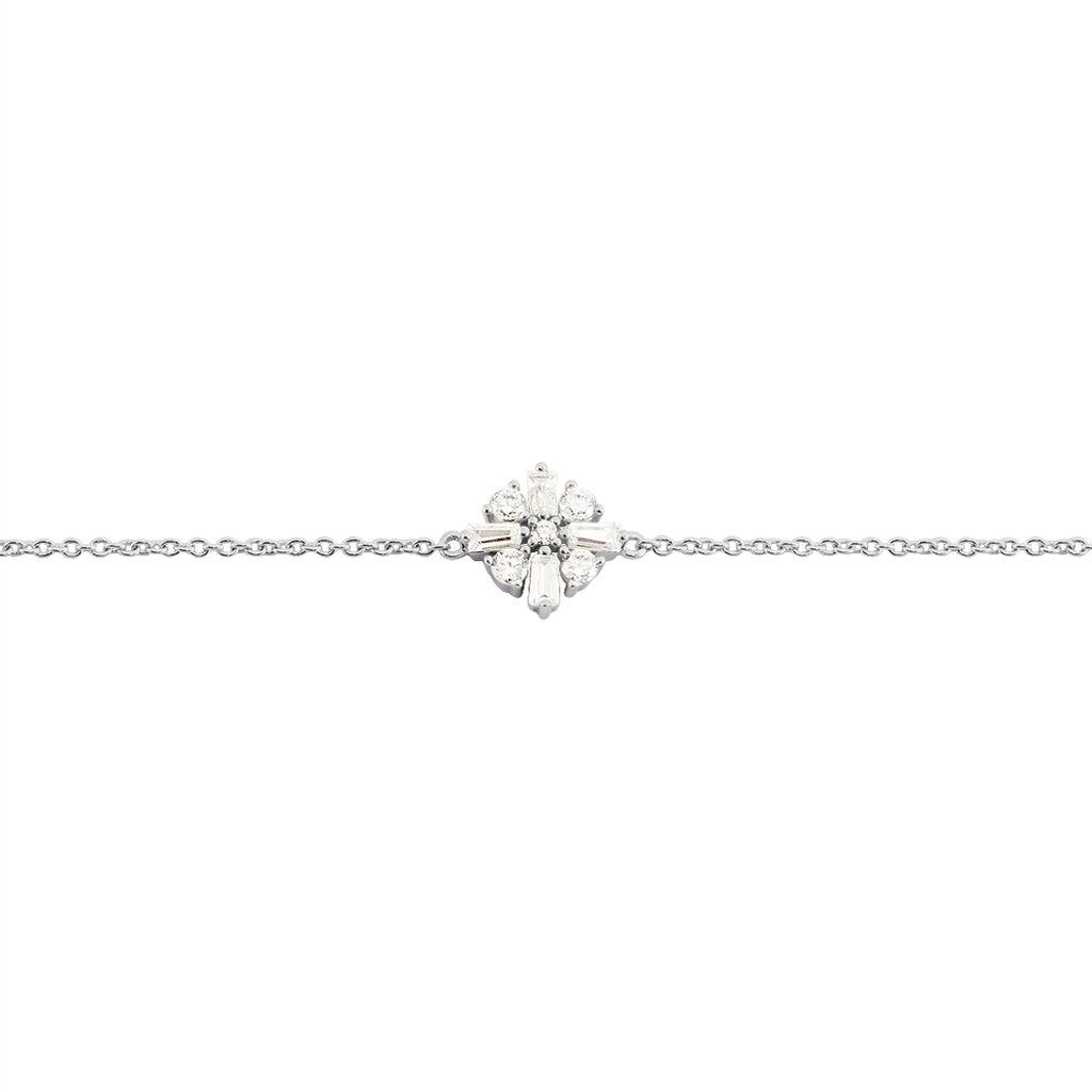 Bracelet Miryna Argent Blanc Oxyde De Zirconium - Bracelets Croix Femme   Histoire d'Or