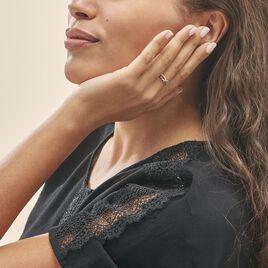 Bague Edem Or Rose Diamant - Bagues avec pierre Femme   Histoire d'Or
