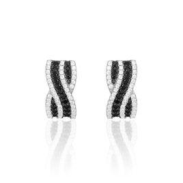 Boucles D'oreilles Pendantes Krista Argent Blanc Oxyde De Zirconium - Boucles d'oreilles fantaisie Femme | Histoire d'Or