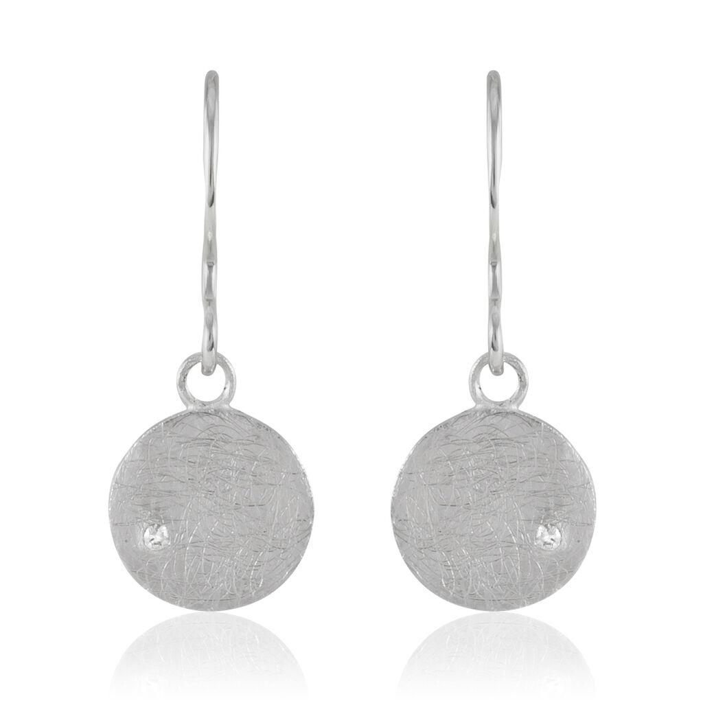 Boucles D'oreilles Pendantes Lisa-lou Argent Blanc Oxyde De Zirconium - Boucles d'oreilles fantaisie Femme   Histoire d'Or