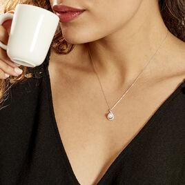 Collier Davy Or Blanc Perle De Culture Oxyde - Bijoux Femme   Histoire d'Or