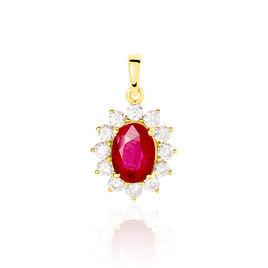 Pendentif Vladimir Or Jaune Rubis Et Diamant - Pendentifs Femme | Histoire d'Or