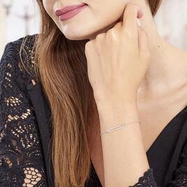 Bracelet Nouheila Argent Blanc - Bracelets fantaisie Femme   Histoire d'Or