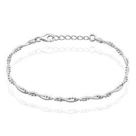 Bracelet Argent Rhodie Maille Venitienne - Bracelets fantaisie Femme | Histoire d'Or