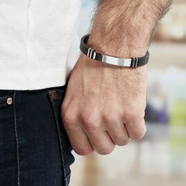 Bracelet Gerard Acier Blanc - Bracelets fantaisie Homme   Histoire d'Or