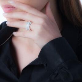 Bague Elyne Or Rose Diamant - Bagues avec pierre Femme   Histoire d'Or