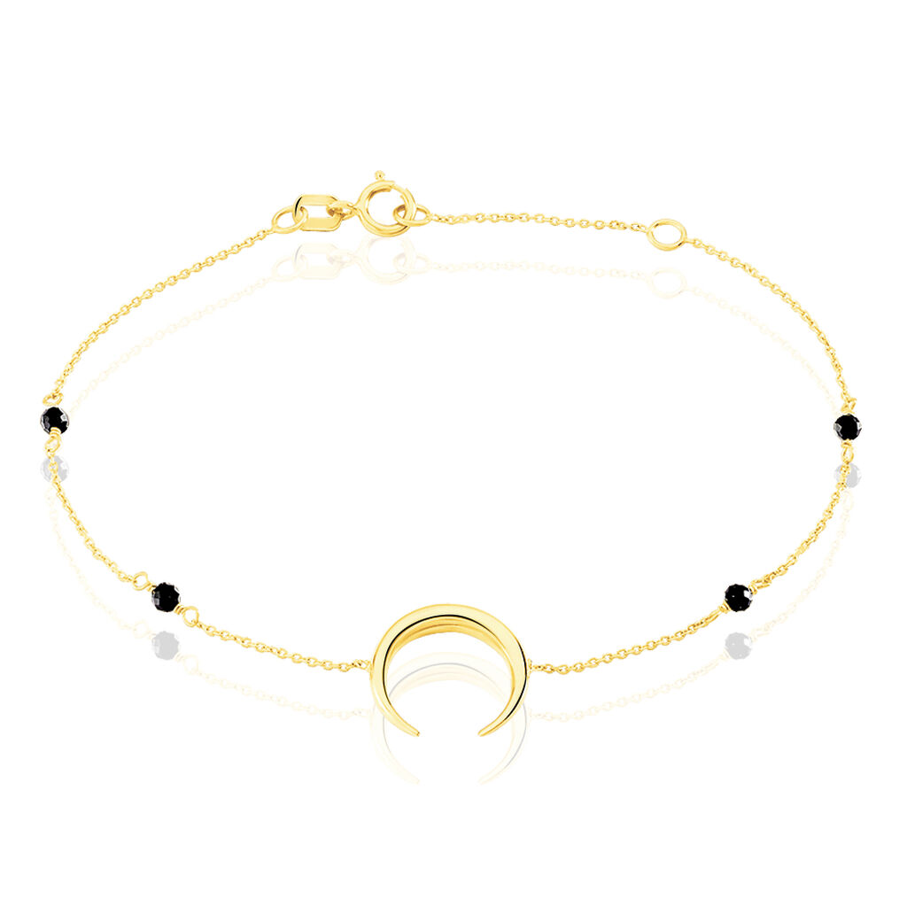 Bracelet Sereine Or Jaune Spinelle - Bracelets Lune Femme | Histoire d'Or
