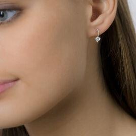 Boucles D'oreilles Pendantes Nouryaae Or Jaune Oxyde De Zirconium - Boucles d'Oreilles Coeur Femme | Histoire d'Or