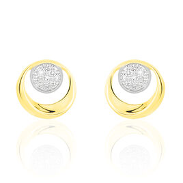 Boucles D'oreilles Puces Liana Or Jaune Diamant - Clous d'oreilles Femme | Histoire d'Or