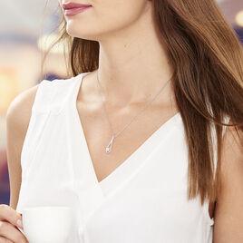 Collier Antonietta Argent Blanc Oxyde De Zirconium - Colliers fantaisie Femme | Histoire d'Or
