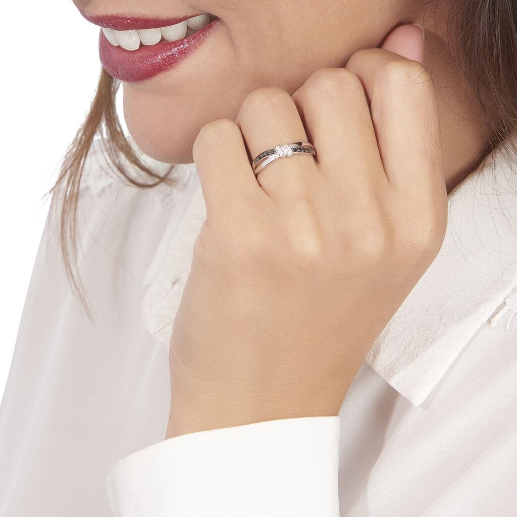 Bague Sindy Or Blanc Diamant - Bagues avec pierre Femme | Histoire d'Or