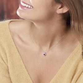 Collier Lise-laure Or Blanc Rubis Et Diamant - Bijoux Femme | Histoire d'Or