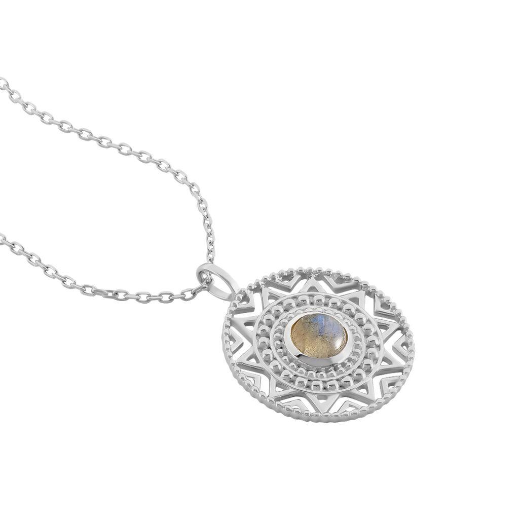 Collier Nyoko Argent Blanc Labradorite - Bijoux Femme | Histoire d'Or
