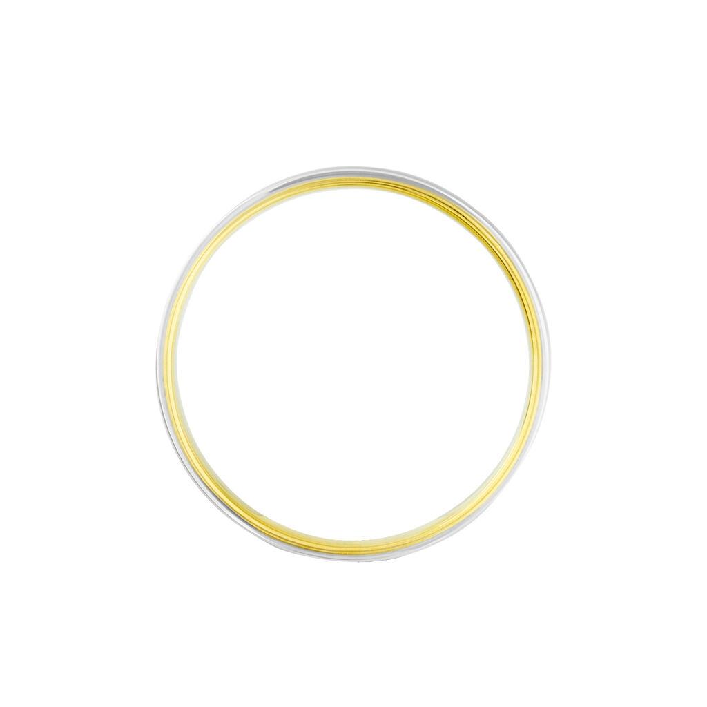 Alliance Or Bicolore Miroir - Alliances Unisexe | Histoire d'Or