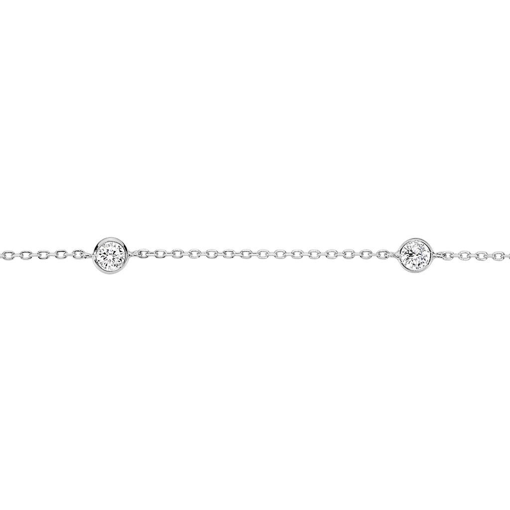 Bracelet Venda Argent Blanc Oxyde De Zirconium - Bracelets fantaisie Femme   Histoire d'Or