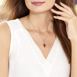 Collier Sianna Argent Blanc Ambre - Colliers fantaisie Femme | Histoire d'Or