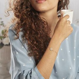 Bracelet Plaqué Or Jaune Lelio Pierre De Lune - Bracelets fantaisie Femme   Histoire d'Or