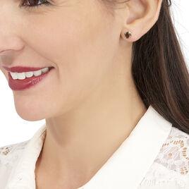 Boucles D'oreilles Puces Vrille Ovale Or Jaune Quartz - Clous d'oreilles Femme | Histoire d'Or
