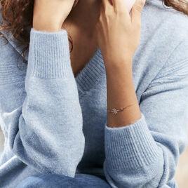 Bracelet Olva Argent Blanc - Bracelets fantaisie Femme | Histoire d'Or