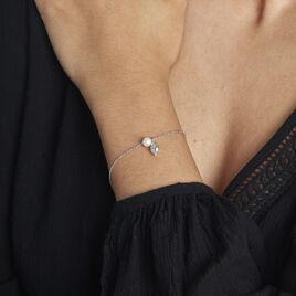 Bracelet Blandino Argent Blanc Perle De Culture - Bracelets fantaisie Femme | Histoire d'Or