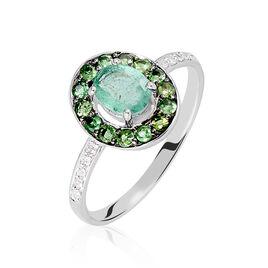 Bague Leona Or Blanc Emeraude Diamant - Bagues avec pierre Femme | Histoire d'Or