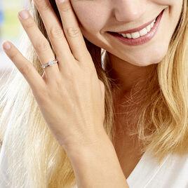 Bague Solitaire Doralicia Argent Blanc Oxyde De Zirconium - Bagues solitaires Femme | Histoire d'Or