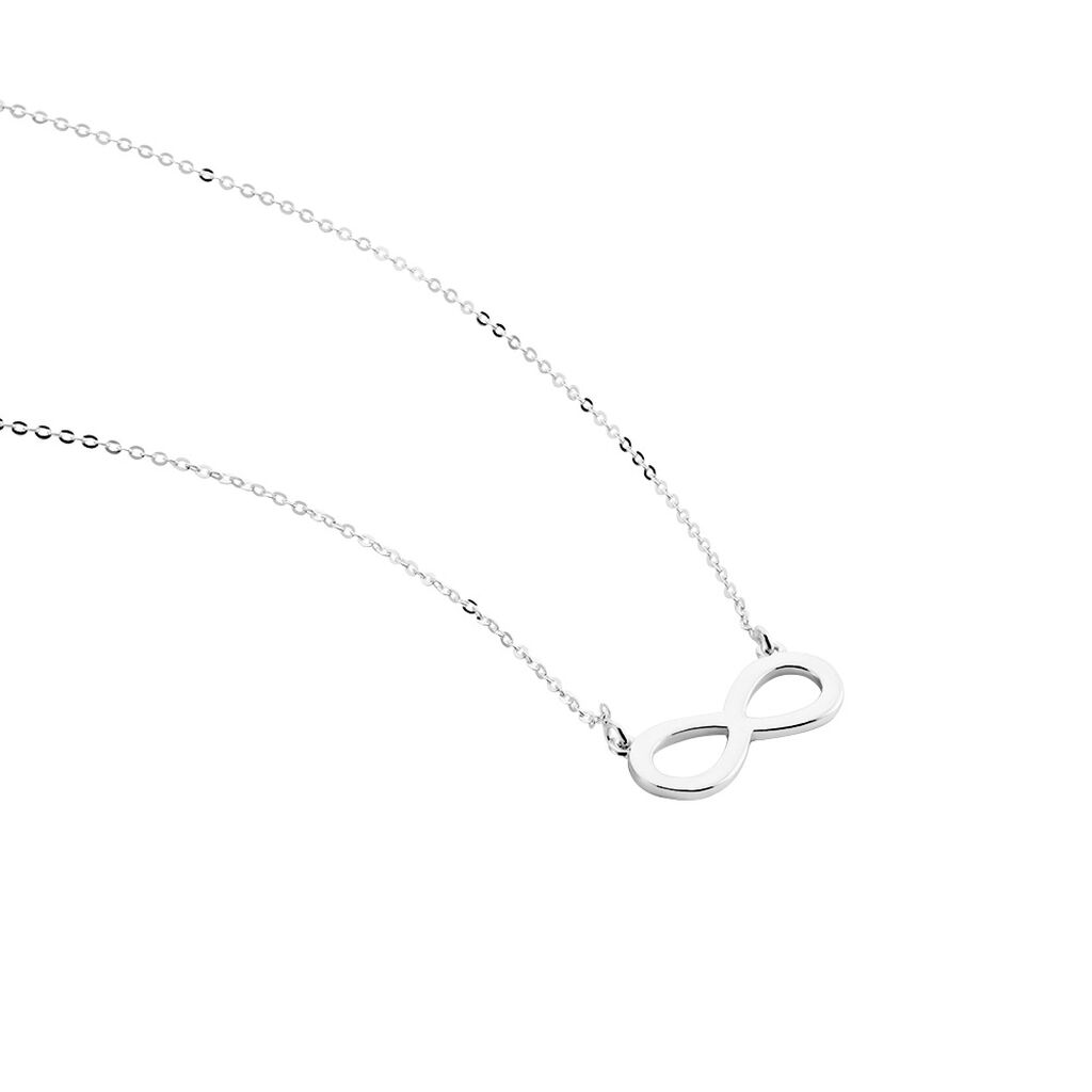 Collier Maryeme Infini Selectra Or Blanc - Colliers Infini Femme   Histoire d'Or