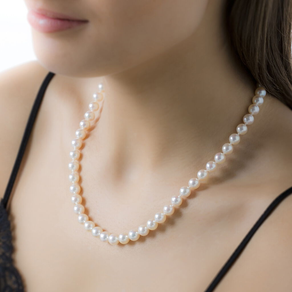 Collier Ghisele Or Jaune Perle De Culture D'akoya - Sautoirs Femme | Histoire d'Or