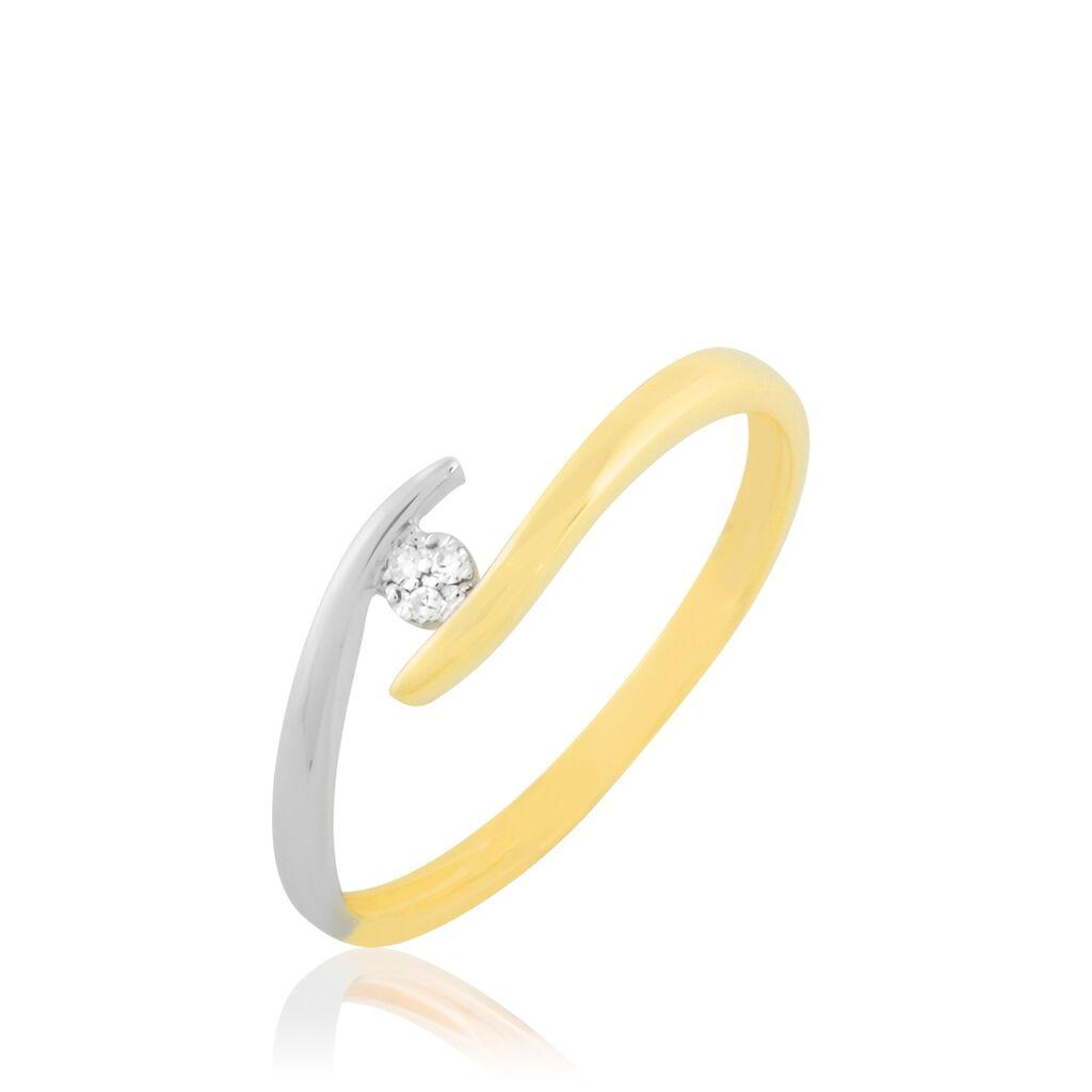 Bague Laure-elise Or Bicolore Diamant - Bagues solitaires Femme | Histoire d'Or