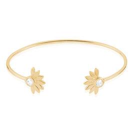 Bracelet Jonc Varia Plaque Or Jaune Oxyde De Zirconium - Bracelets fantaisie Femme   Histoire d'Or
