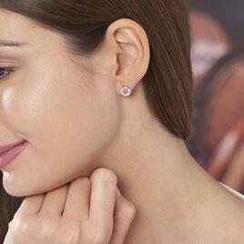 Boucles D'oreilles Argent Rhodie Elenza Puce Pastille - Boucles d'Oreilles Etoile Femme   Histoire d'Or