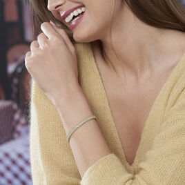 Bracelet Jerry Maille Corde 3 Rangs Or Bicolore - Bijoux Femme | Histoire d'Or
