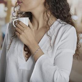Bracelet Anka Argent Blanc Oxyde De Zirconium - Bracelets Infini Femme | Histoire d'Or