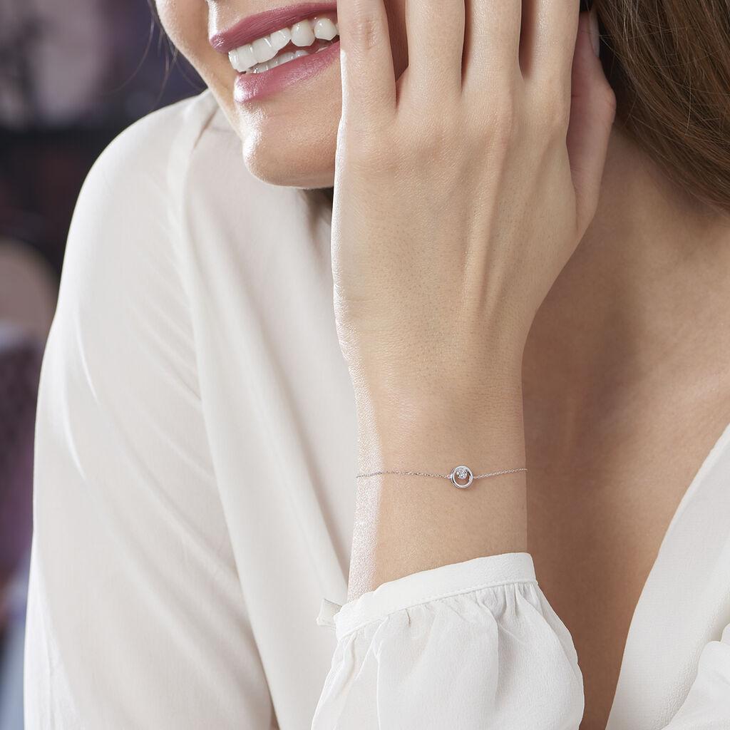 Bracelet Fidelia Or Blanc Diamant - Bijoux Femme | Histoire d'Or