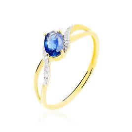 Bague Malia Or Jaune Saphir Et Diamant - Bagues solitaires Femme | Histoire d'Or