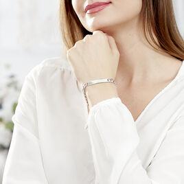 Bracelet Identité Casper Argent Rhodié - Gourmettes Femme   Histoire d'Or