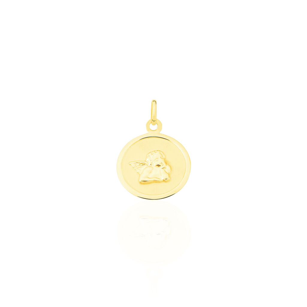 Pendentif Ange Rond Or Jaune - Pendentifs Famille | Histoire d'Or