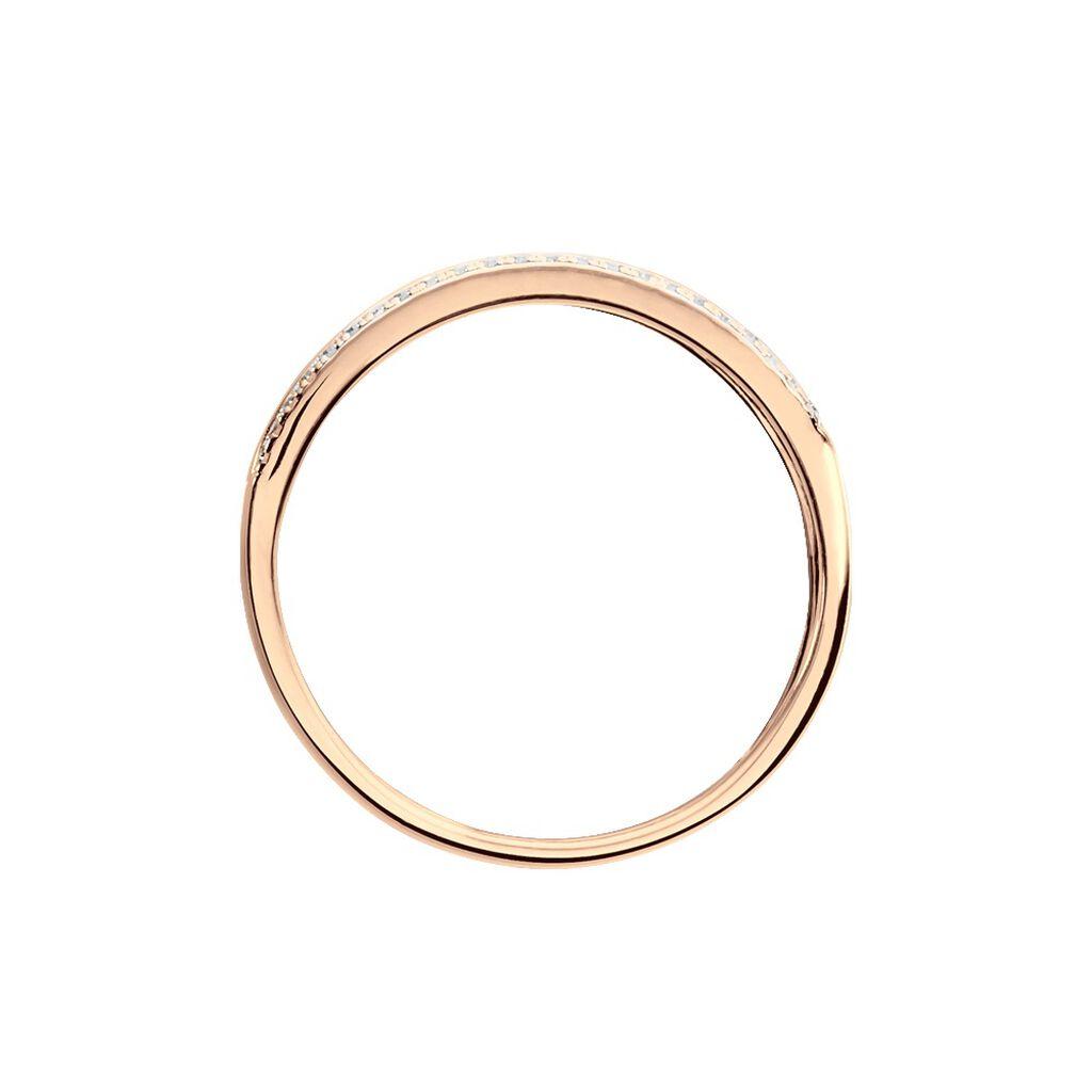 Bague Eugenie Or Rose Diamant - Bagues avec pierre Femme   Histoire d'Or