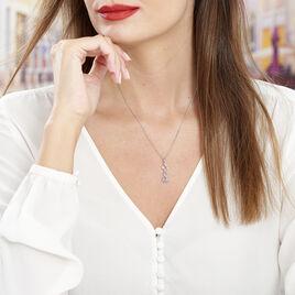 Collier Yolaine Argent Blanc Oxyde De Zirconium - Colliers Coeur Femme   Histoire d'Or