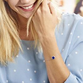 Bracelet Argent  Camillo Lapis - Bracelets fantaisie Femme | Histoire d'Or
