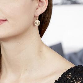 Boucles D'oreilles Pendantes Ranya Plaque Or Jaune - Boucles d'oreilles fantaisie Femme   Histoire d'Or