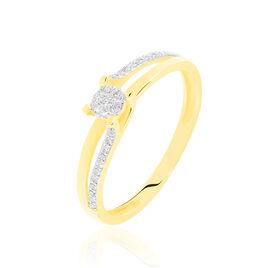 Bague Josane Or Jaune Diamant - Bagues avec pierre Femme | Histoire d'Or