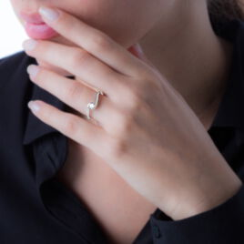 Bague Solitaire Vrille Or Blanc Diamant - Bagues solitaires Femme | Histoire d'Or