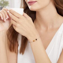Bracelet Ridaae Argent Blanc Ambre - Bracelets fantaisie Femme | Histoire d'Or