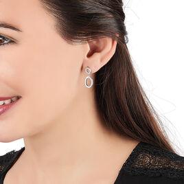 Boucles D'oreilles Pendantes Anaita Argent Blanc Oxyde De Zirconium - Boucles d'oreilles fantaisie Femme   Histoire d'Or
